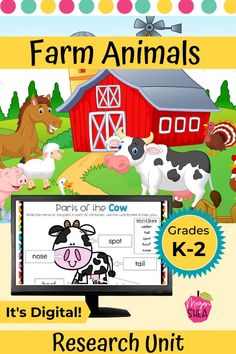 A digital resource unit on farm animals. A great resource for distance learning.This  unit is perfect for kindergarten, first, or second grade. It is fully digital and can be used on either Google Slides™ or SeeSaw.™ This would also be great for homeschool and virtual school. This resource includes 43 Google Slides™ that can be done digitally on any device. Your students will just need a Google Account. Be sure to check it out! #FarmAnimals #DistanceLearning Primary Activities, First Grade Activities, Teaching First Grade, First Grade Teachers, Science Resources, Elementary Science Classroom, Classroom Fun, Elementary Education, Classroom Activities