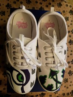 0c3a2991914f Hand painted Seattle Seahawks shoes by Tareasha Salinas