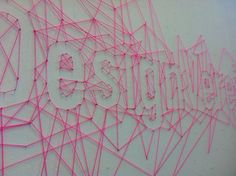 thread art - originally seen on Pinterest's office page. this is a terrible version of that, but a good reminder