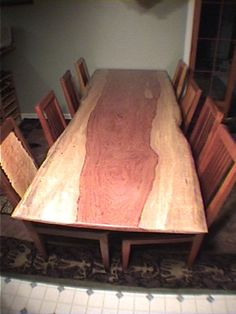 unique handmade wood slab dining tables made to order hand crafted eco friendly furniture made in montana