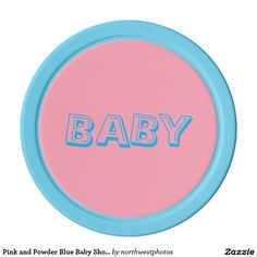 Pink and Powder Blue Baby Shower Set Of Poker Chips