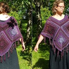 New poncho for sale #crochetponcho #wool #crochet #lovecolors #MianVirkkuut #virkattuponcho #liukuvärjätty #virkkaus #villalanka