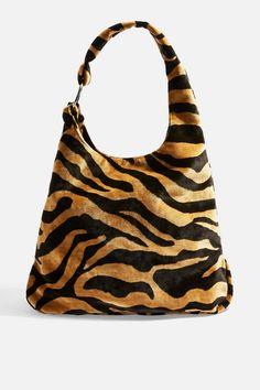 2ada0ca29 Kenya Tiger Tote Bag - Topshop USA Printed Tote Bags, Blue Bags, Tiger Print