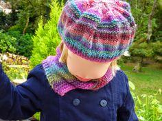 e72f3c900478 béret et col tricot - tuto gratuit en français, débutant, facile, enfant,  fille knit hat, knit snood, easy free tutorial, girl great