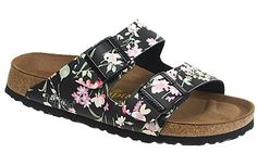 Papillio Arizona  Soft Footbed  Simply Flowers Black Birko-Flor  $89     See how great your sensitive feet will feel in this soft version of a classic style. The contoured footbed is padded with an extra layer of foam and gives you cushion along with great arch support. Resoleable sole for long-lasting comfort.