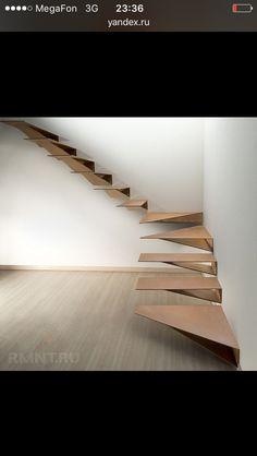Опасная лестница без перил