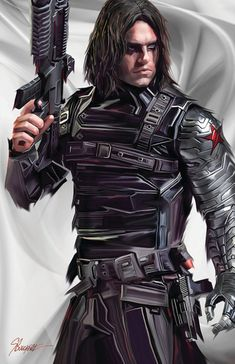 This is my piece in a set of Winter Soldier, The Cap and Iron Man. This piece did very well in the Edmonton Expo Winter Soldier Final sm Marvel Comics Art, Marvel Heroes, Marvel Avengers, Bucky Barnes, Winter Soldier Cosplay, Winter Soldier Bucky, Sebastian Stan, Steve Rogers, Chris Evans