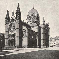 Die Synagoge galt in Deutschland als eine der schönsten und grössten !  Im Jahre 1938 wurde die Synagoge freventlich zerstört.  Photo-Archiv : Klaus Seidenfaden