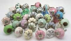 Vintage Ceramic Knobs BY These Please Cupboard Door Draw Shabby Chic Handles | eBay