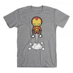 Flying Iron Man Kawaii t-shirt
