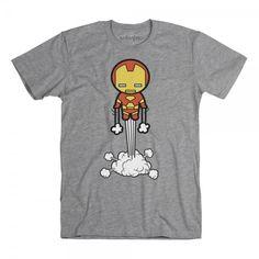 Flying Iron Man Kawaii t-shirt