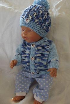 Bear Doll, Baby Born, Knitted Dolls, Crochet Hats, Knitting, Fashion, Tricot, Knitting Hats, Fashion Styles