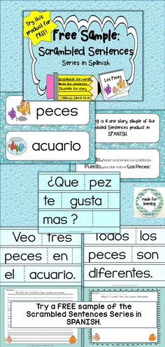 This FREE Scrambled Sentences activity in SPANISH includes 3 sentences to be unscrambled to create a story that is then copied and illustrated. This stand-alone activity can be used with a small group or in an individual center.