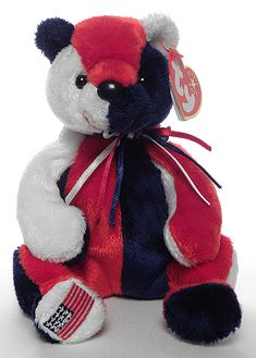 Patriot (flag on right foot) - bear - Ty Beanie Babies
