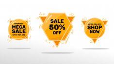 Sale banners set Premium Vector | Premium Vector #Freepik #vector #sale Price Tag Design, Black Friday Offer, Promotional Banners, Sale Banner, Banner Template, Label Design, Sticker Design, Instagram Story, Templates