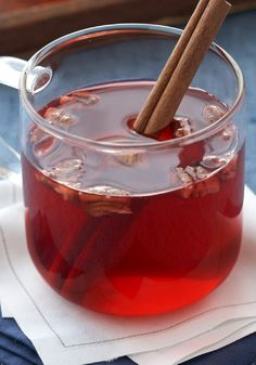 Christmas Punch Recipe ~ Here's one to add to your Christmas traditions: Gather 'round the tree to sip on this festive punch that's sweet with a hint of holiday spice.