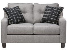 Aero Collection - Charcoal Loveseat