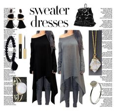 Sweater Dresses by mindfulbohemian on Polyvore featuring polyvore, fashion, style, Yves Saint Laurent and clothing