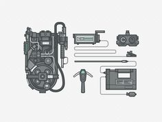 Dribbble - Ghostbusters Gear by Ryan Putnam