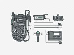 Dribbble - Ghostbusters Gear by Ryan Putnam