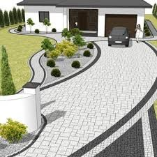 perfect for our house and yard layout. Front Garden Landscape, Front Yard Landscaping, Landscape Design, Garden Design, House Design, Outdoor Living Rooms, Outdoor Spaces, Interior Exterior, Exterior Design