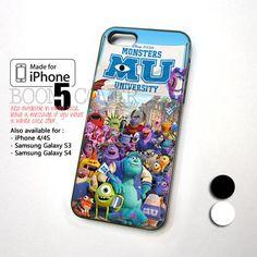 Monster University Disnep Pixar Movie for iPhone 5, iPhone 4/4S, iPod 4, iPod 5, Samsung Galaxy S2, Samsung Galaxy S3 , Samsung Galaxy S4 Case Cover