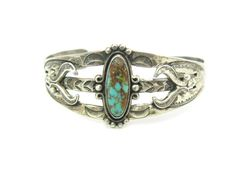 Turquoise Cuff Bracelet. Navajo Style Bell by bohemiantrading
