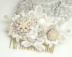Rose Gold Bridal Comb-Bridal Hair Accessories-Rose от BrassBoheme