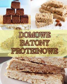 Domowe batony proteinowe – instrukcja przygotowania Helthy Snacks, Cereal, Food And Drink, Low Carb, Cooking, Breakfast, Healthy, Sweet, Fitness