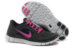 Nike Free Run 3 Black Fireberry Blue Glow Women's Shoes