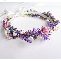 Floral Crown Wedding Flower Crown Lavender Wedding