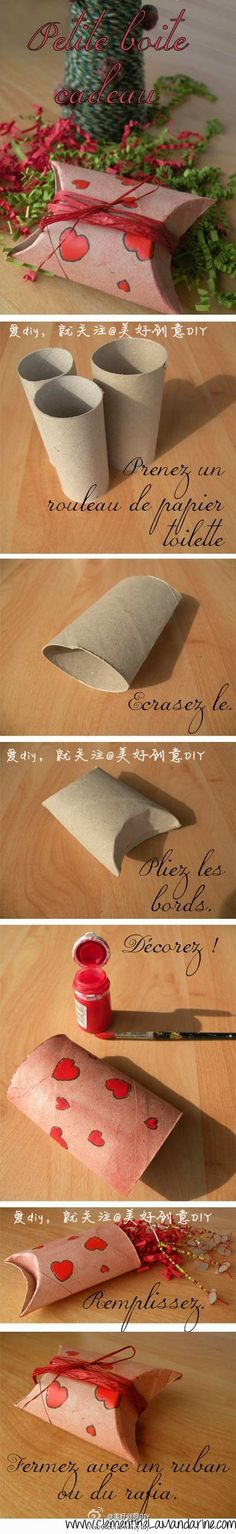 Great idea packaging from a roll of toilet paper