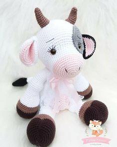 Crochet Animal Patterns, Stuffed Animal Patterns, Crochet Patterns Amigurumi, Amigurumi Doll, Crochet Animals, Bear Patterns, Crochet Cow, Crochet Crafts, Crochet Dolls