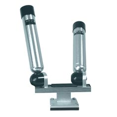 Big Jon Dual Multi-Axis Pedestal Mounted Rod Holder - Silver - https://www.boatpartsforless.com/shop/big-jon-dual-multi-axis-pedestal-mounted-rod-holder-silver/