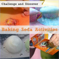 Lots of fun Baking Soda ideas #Science #Scienceforkids #BakingSoda