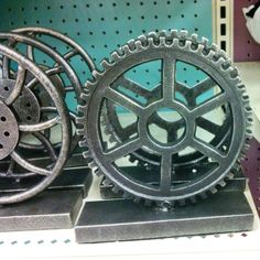 Gear decoration at Target. Would go great with transportation theme.