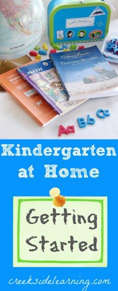 How to homeschool kindergarten:  Curricula resources, sample schedule, learning goals and more. | Creekside Learning