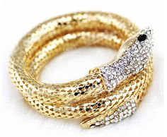 Find More Chain & Link Bracelets Information about Gold Snake Bangle Braclet Punk Snake Chain Crystal Rhinestone Women Bangle Cuff Zinc Alloy European Style Vintaage Bracelet Hot,High Quality bangle box,China bangle manufacturers Suppliers, Cheap bracelet boy from True Pretty Jewelry on Aliexpress.com