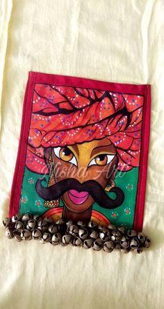 Design print fabric inspiration 48 ideas for 2019 Dress Painting, Fabric Painting, Fabric Art, Stencil Fabric, Madhubani Art, Madhubani Painting, Hand Painted Dress, Painted Clothes, Fabric Paint Designs