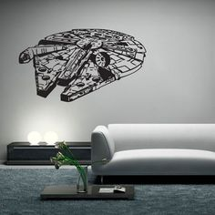 Star Wars Millennium Falcon V.2 Vinyl Wall Art Decal   ============================== How to Select the color for decal Please leave following note when you check out in Note/ commenet Section or emai