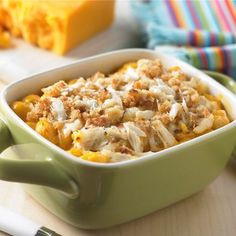 Crab Macaroni & Cheese Bake - Phillips Foods  *try topping w/ Oldbay