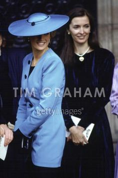 October 8, 1988: Princess Diana attends the wedding of Miss Camilla Dunne and the Hon. Rupert Soames.
