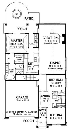 Search house plans from the Donald Gardner portfolio of custom home designs. The best home plans since Custom modification to all floor plans available. Home Design Plans, Plan Design, Best Home Plans, One Story Homes, Walk In, Custom Home Designs, House Blueprints, Bedroom Layouts, Story House