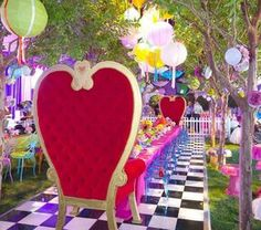 """2,867 Likes, 120 Comments - Revelry Event Designers (@revelryeventdesign) on Instagram: """"Colorful Alice in Wonderland Theme Birthday Party! So much fun! Thank you for posting…"""""""