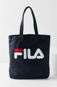 Slide View: 2: FILA Canvas Tote Bag