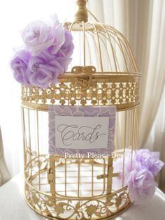 Birdcage Wedding Card Holder   by prettypleasedesign, $85.00