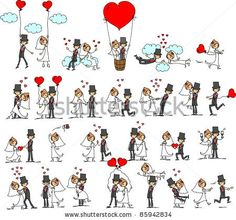 Illustration about Lovely wedding the bride and groom,vector illustration picture for your design. Illustration of hands, bride, cartoon - 21890161 Bride And Groom Cartoon, Bride And Groom Silhouette, Wedding Silhouette, Valentines Day Clipart, Happy Married Life, Couple Cartoon, Wedding Art, Wedding Bride, Wedding Couples