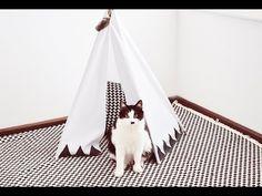 DIY | Cabana de índio para pets // Teepee - Tudo Orna