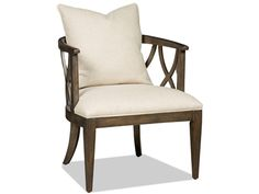 With its stylish grace this accent chair features Eastbrook Barley fabric.