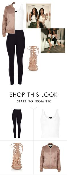"""SiAngie Twins. Angie inspired. "" by iamgangster ❤ liked on Polyvore featuring Gianvito Rossi and River Island"